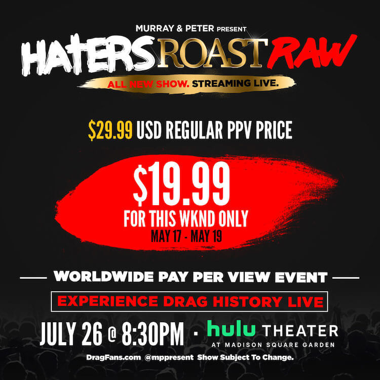 Hater's Roast Raw PPV Ad Mat