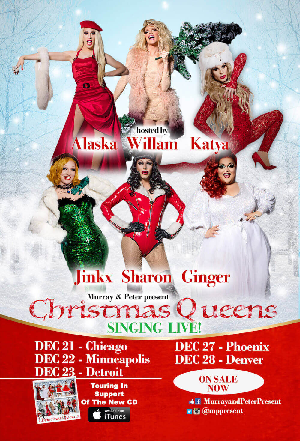 Christmas Queens Singing Live Ad Mat