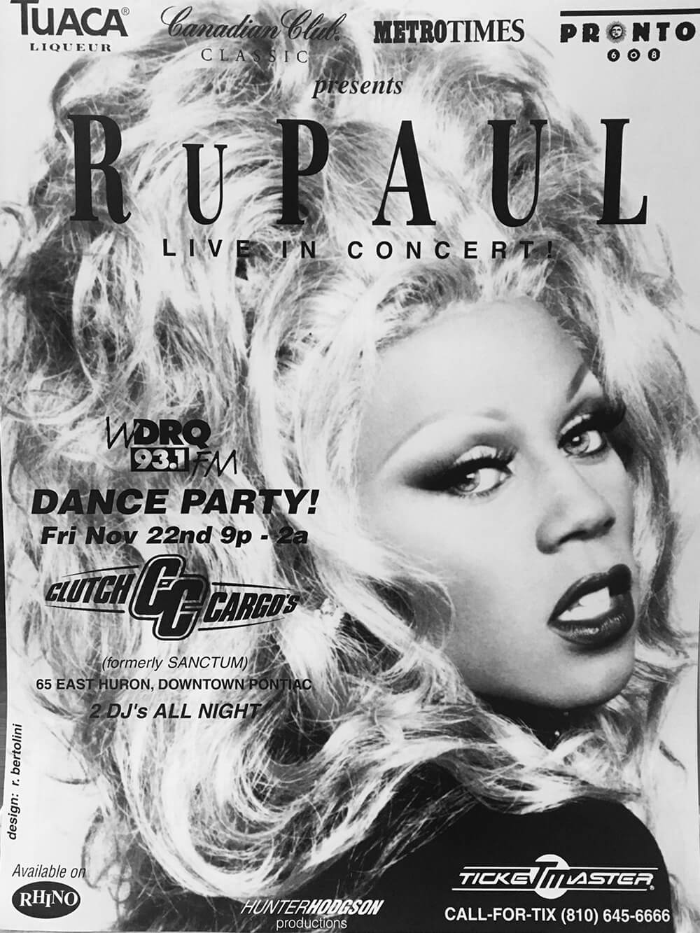 Ru Paul Live in Concert Ad Mat